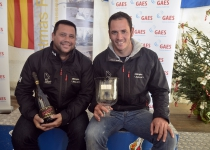Spanish Finn Sailor Alex Muscat, absolute winner of the GAES Palamós Christmas Race